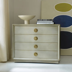 Beautiful Hand-Painted Chest In Solid Mahogany With Four Drawers And Metal Handles by Somerset Bay