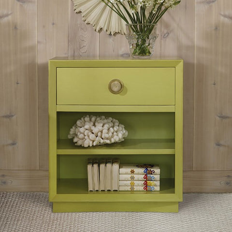 Single-Drawer Painted Nightstand Shown In Key Lime Pie Finish by Somerset Bay