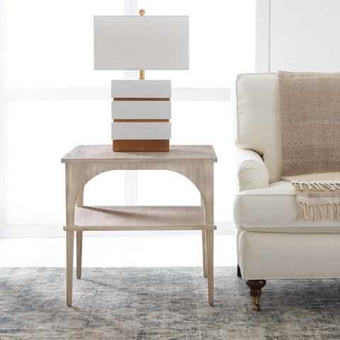 Modern Maui Square End Table Detailed With Ash Veneers by Somerset Bay