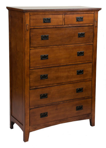 Traditional Mission 7-Drawer Chest With Dovetail Joinery by Sunset Trading Collection