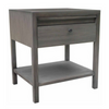 "Image of Aldus Collection: 24"" Elm 1-Drawer Nightstand With Concealed Tray Shown in Fog Finish by Maria Yee"
