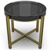 Image of Crystal Candy Coffee Table With Chrome Base And Ten Color Choices by Arditi Collection