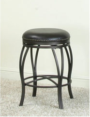 "24"" Victoria Swivel Counter Stool With Comfortable Leather Seat by Sunset Trading Collection"