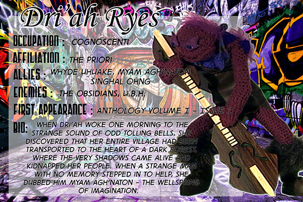 Driah Ryes - The Dope Fiends Comic Character