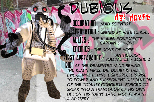 Dubious - The Dope Fiends Comic Character