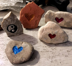 The Dope Fiends Comics heartstones carved blessing stones