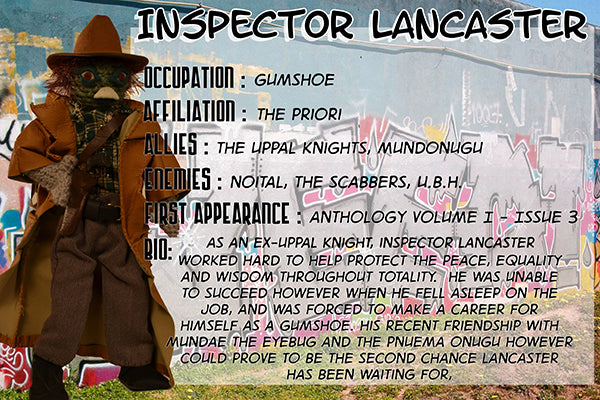 Insector Lancaster - The Dope Fiends Comic Character