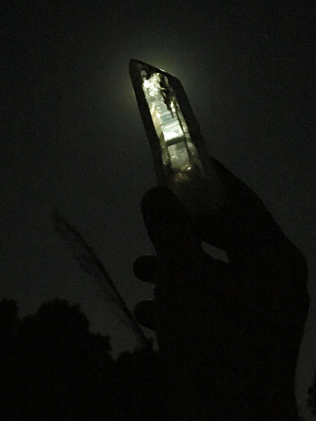 The Dope Fiends Comics Crystals Quartz Wand capturing moonlight