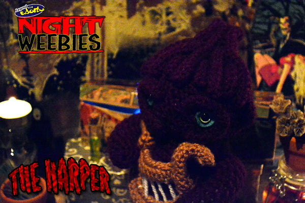legend of the adorbs NightWeebies the Harper crochet amigurumi doll based on Clive Barker's Nightbreed