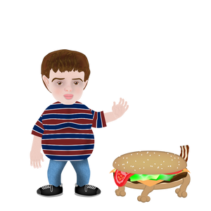 Adobe Character Animator Digital Action Figure - Tommy and Burger