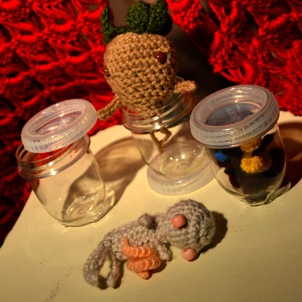 Weeblit : Adorable Crocheted Fetus - OOAK Art Dolls