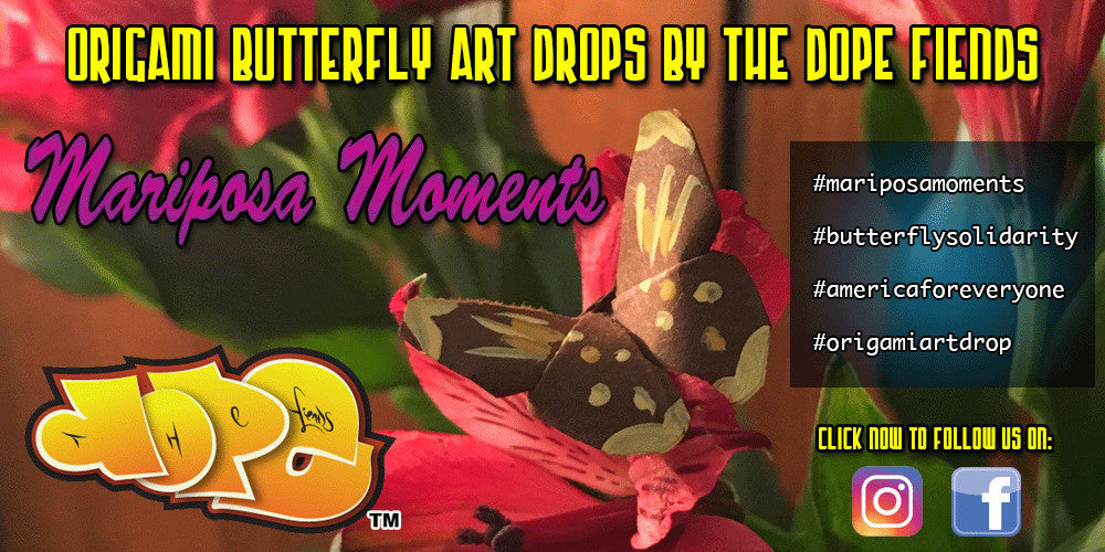 mariposa moments origami art drop