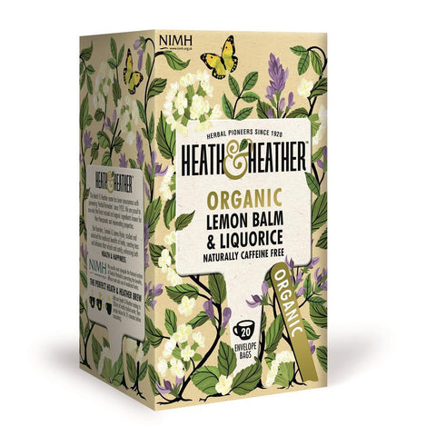 Heath and Heather Organic Lemon Balm & Liquorice Tea