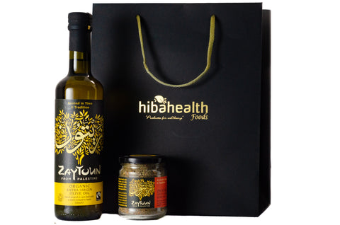 Organic Extra Virgin Olive Oil & Zaatar Herb Gift Set