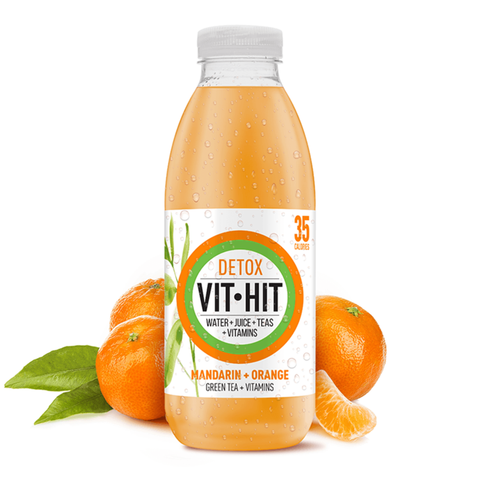 Detox Mandarin Green Tea + Vitamins (500ml)