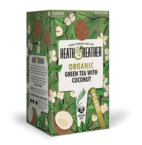 Heath and Heather Green Tea with Coconut Hiba Health Foods