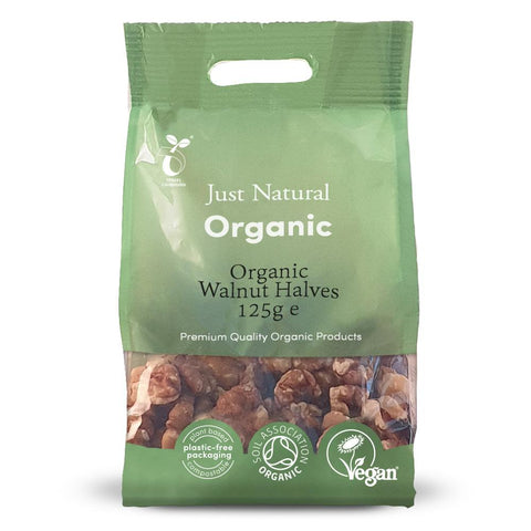 Just Natural Organic Walnut Halves - 125g