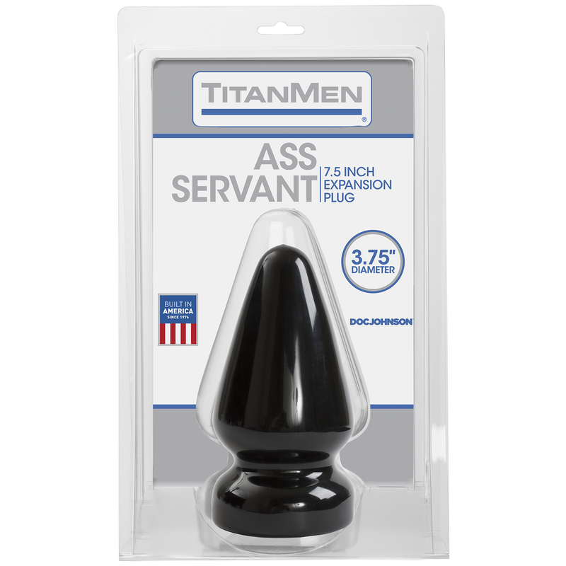 TitanMen Ass Servant Butt Plug Black