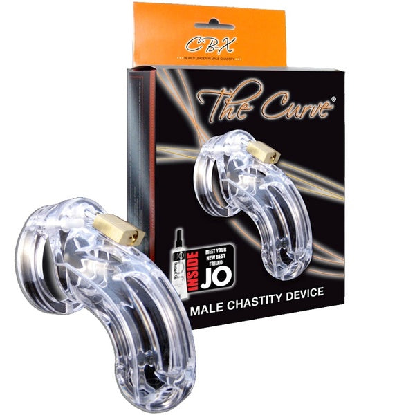 CB-X The Curve Male Chastity Device - Clear
