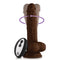 FemmeFunn Turbo Baller 2.0 Remote Controlled Vibrating Dildo - Brown