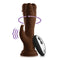 FemmeFunn Turbo Rabbit 2.0 Remote Controlled Vibrating Dildo - Brown