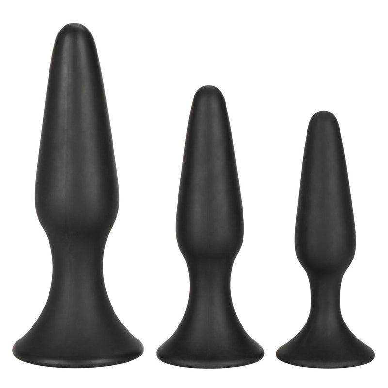 Calexotics Silicone Anal Trainer Butt Plug Kit