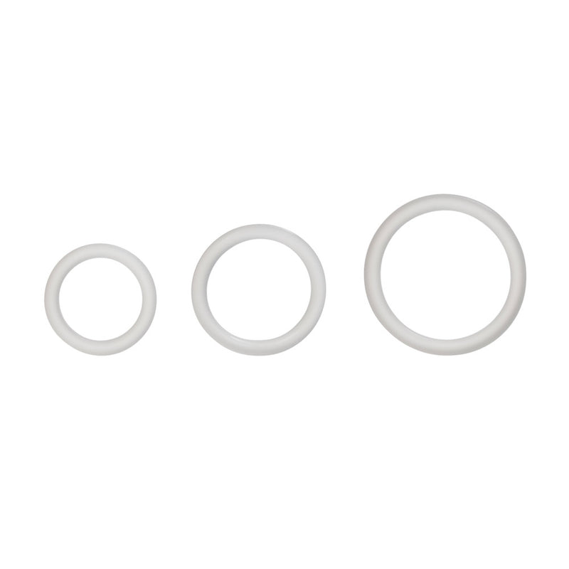 Calexotics Silicone Support Cock Rings - Clear