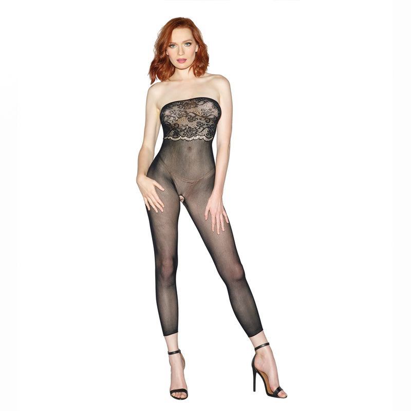 Dreamgirl Sheer Body Stocking Black