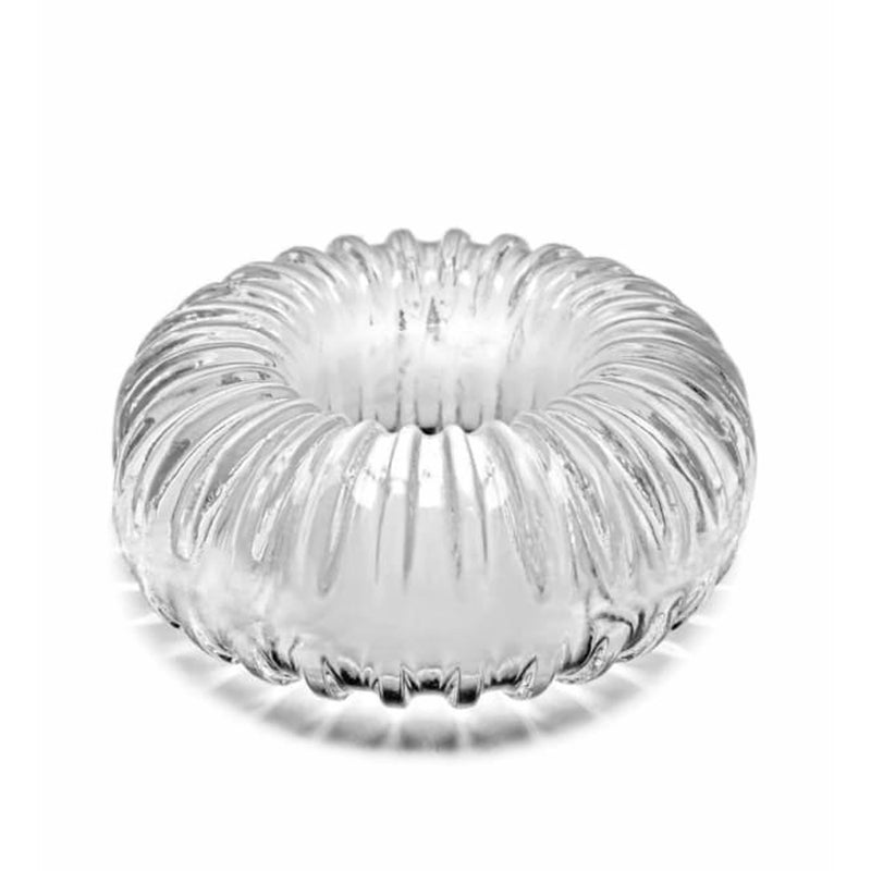 Perfect Fit Ribbed Cock Ring Clear