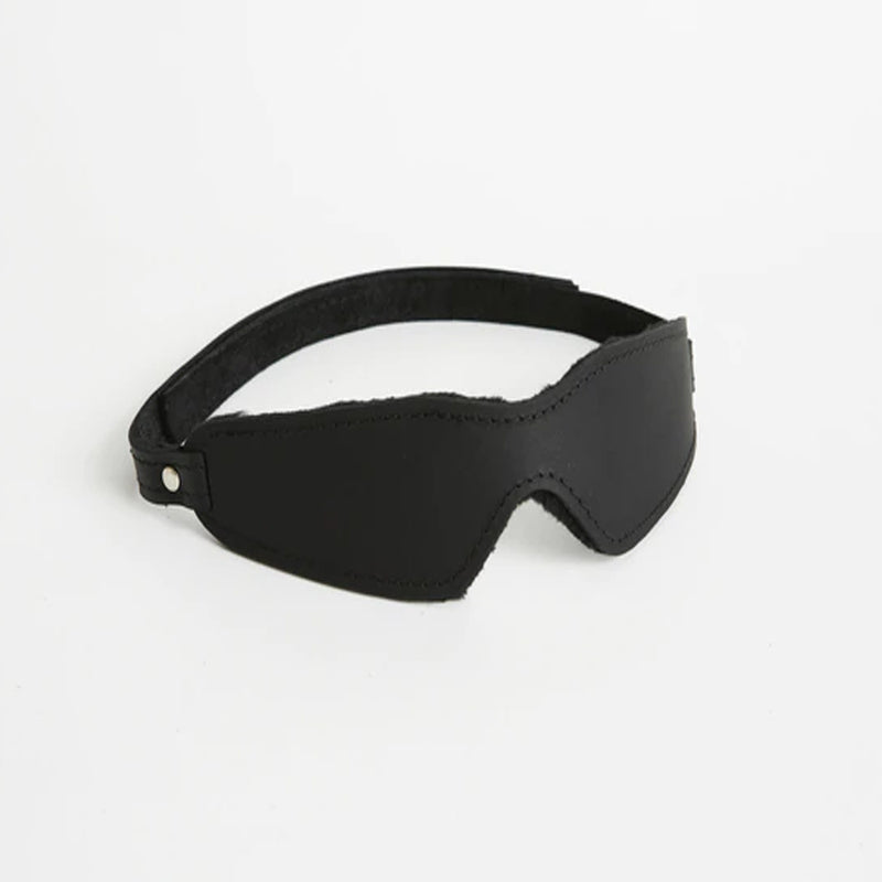 S(A)X Plush Leather Blindfold Small Velcro