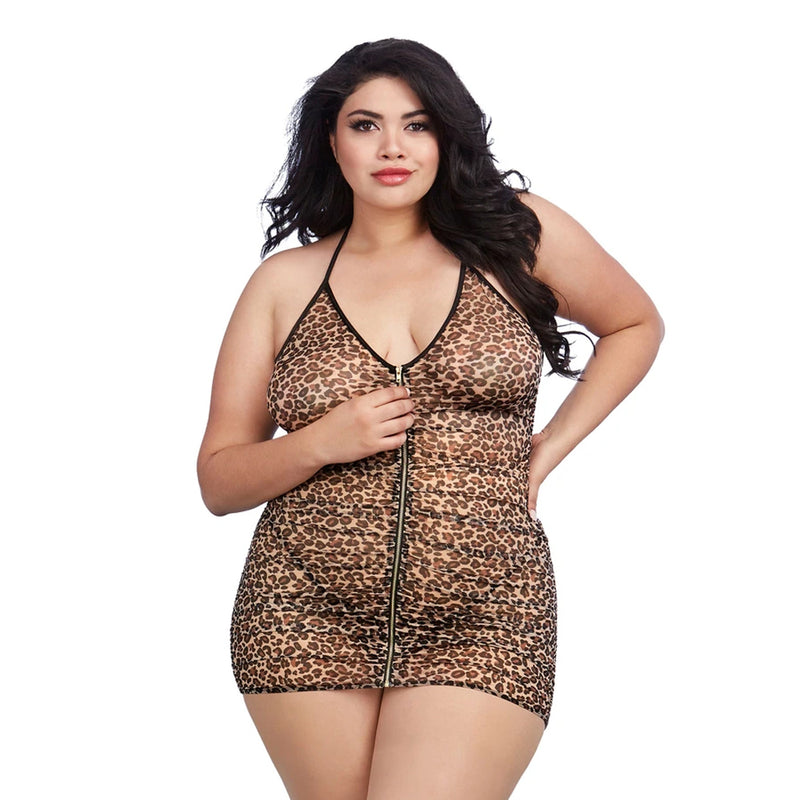 Dreamgirl Lingerie Chemise Leopard 11842X