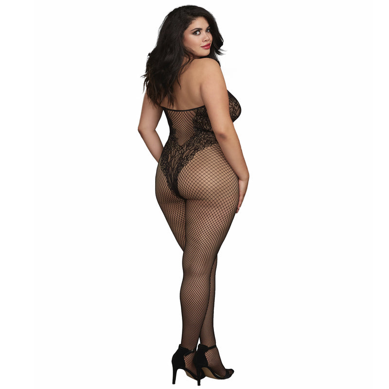 Dreamgirl Body Stocking Black 0326X