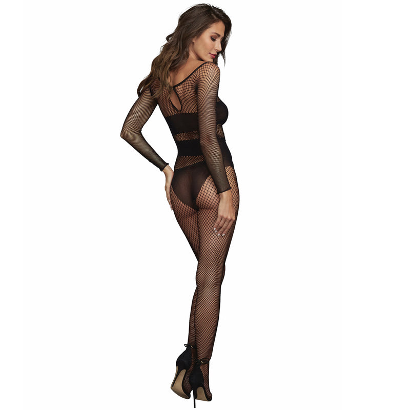 Dreamgirl Lingerie Body Stocking Black 0323