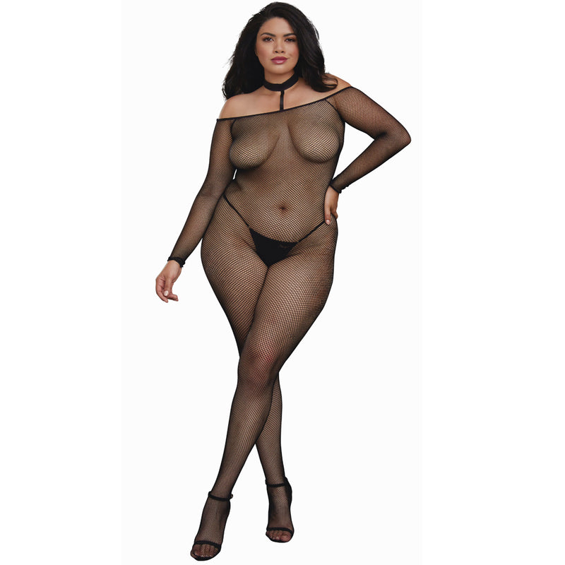 Dreamgirl Lingerie Body Stocking Black 0319X