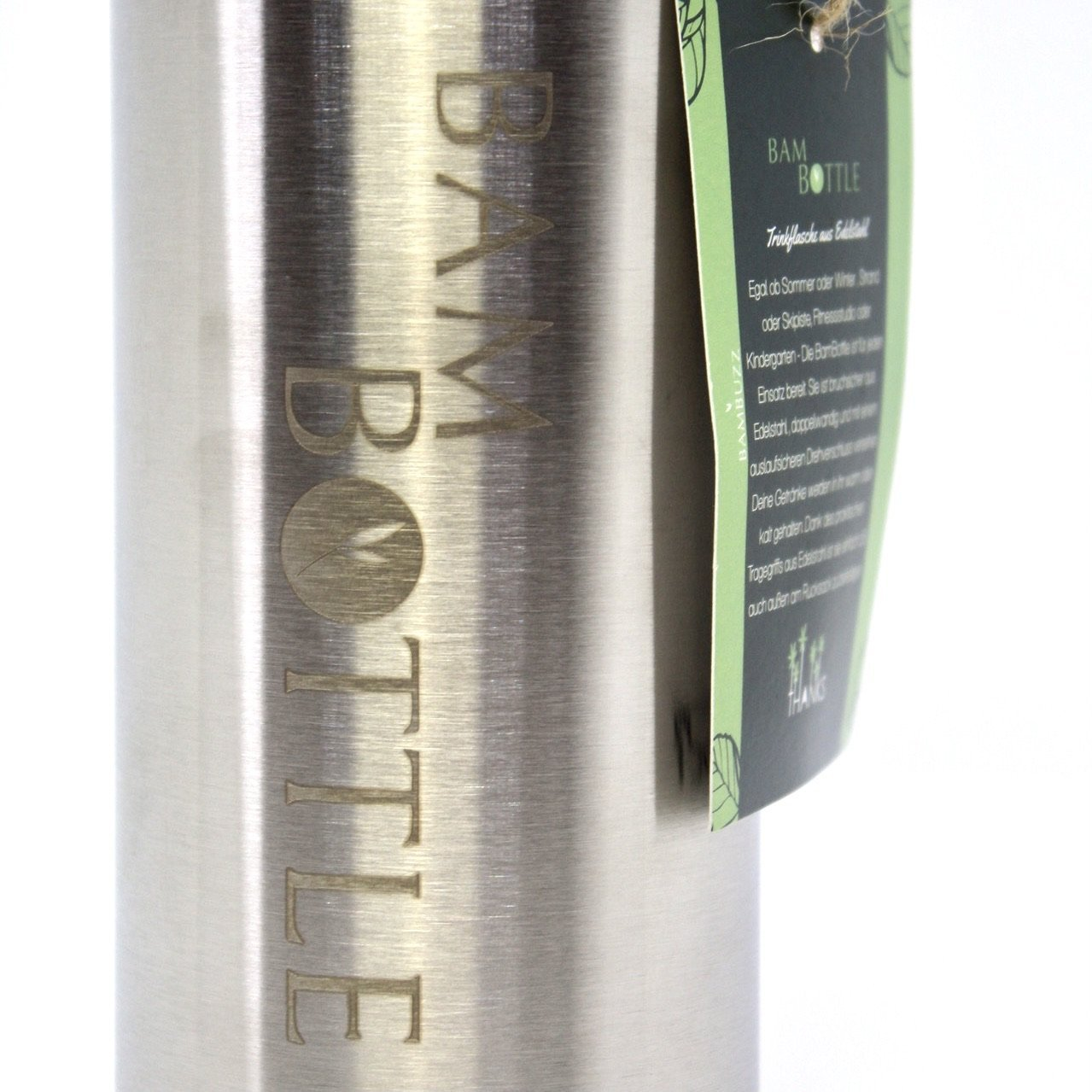 BamBottle - Edelstahltrinkflasche Classic - Bambuzz | #yourchoice