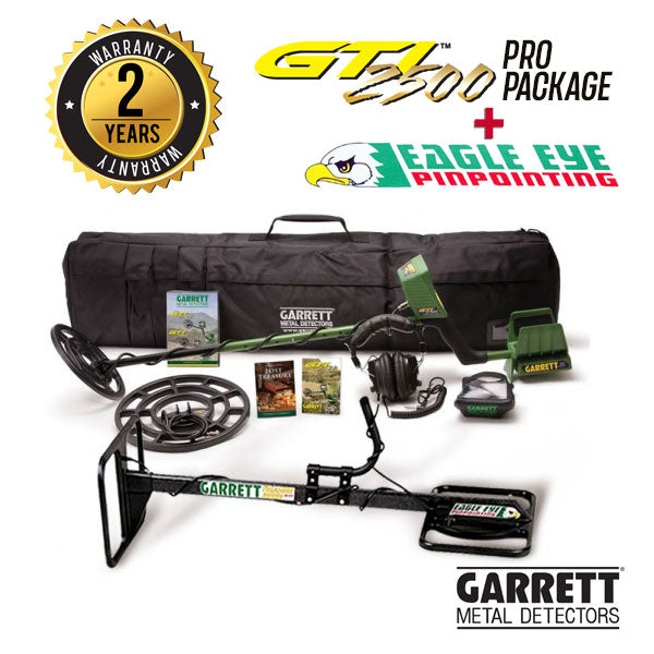 GTI 2500 Pro - Eagle Eye Treasure Hound Metal Detector|Detector de Metales Garrett Modelo GTI 2500 Pro Package + Eagle Eye