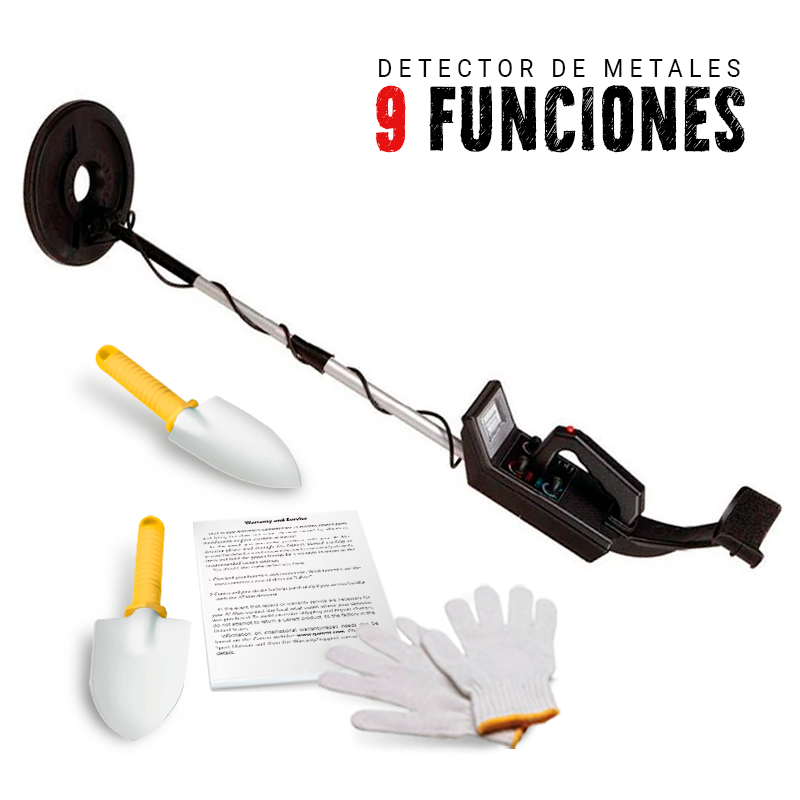 Gold Hunter 9 functions Metal Detector|Detector de Metales Gold Hunter Modelo 9 Funciones