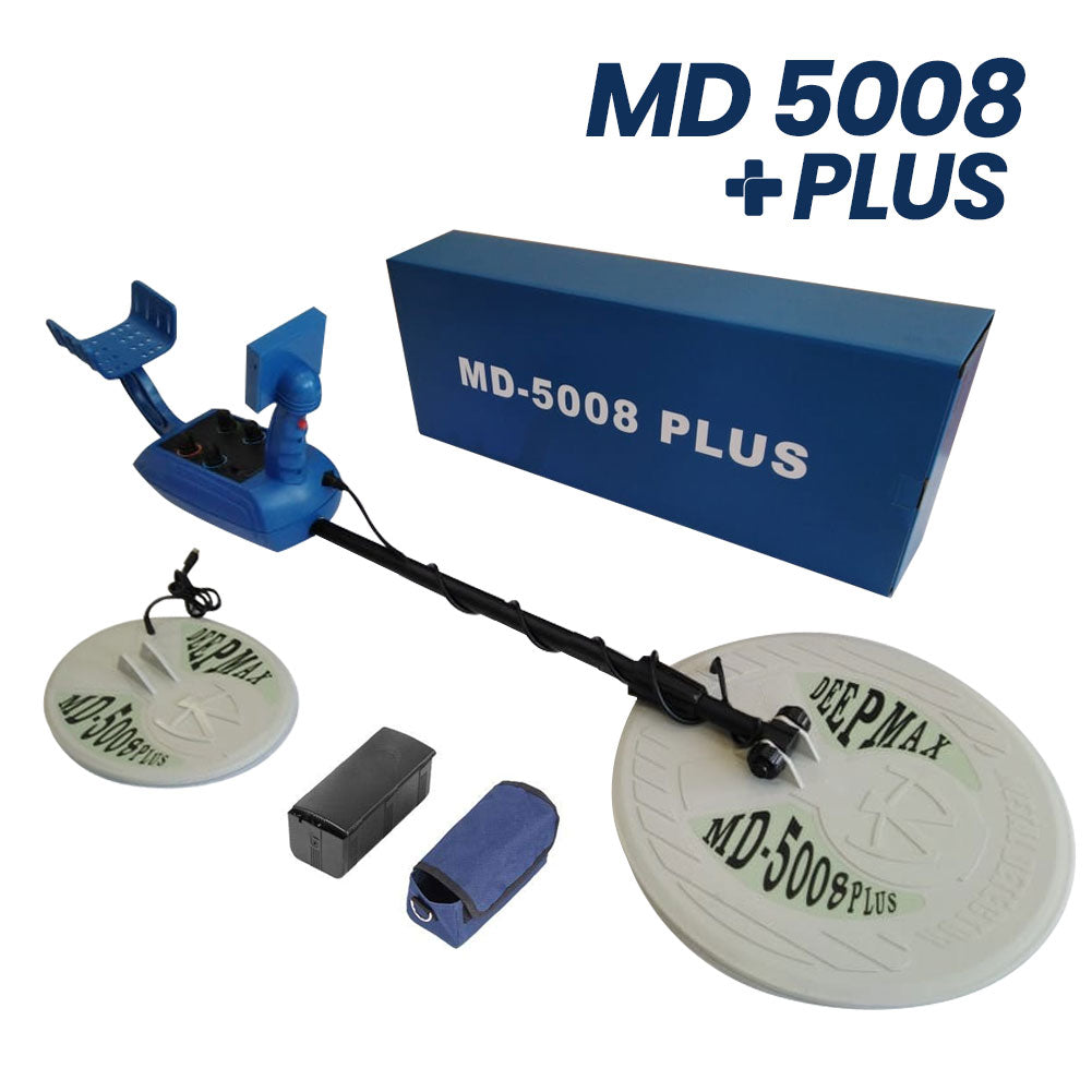 DeepMax Model MD5008 Plus Metal Detector|Detector de Metales DeepMax Modelo MD5008 Plus