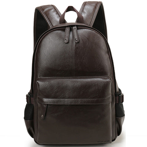 Brand Men Backpack Leather