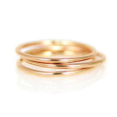 MMR Rose Gold Smooth Stacking Ring