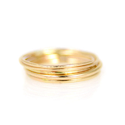 MMR Gold Smooth Stacking Ring