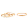MMR Rose Gold Hammered Stacking Ring