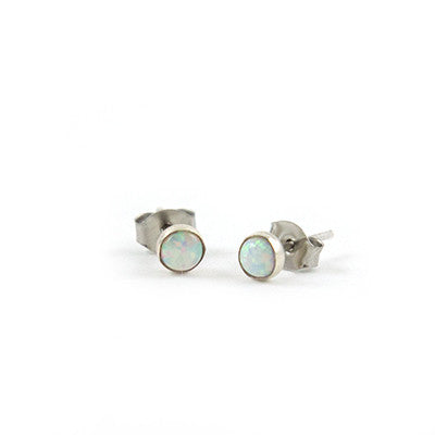Mineral and Matter Small Opal Stud Earrings