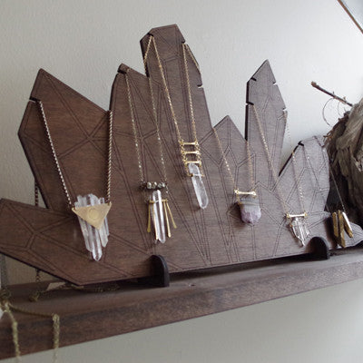 Crystal Necklace Display
