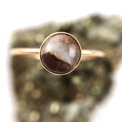 Copper Calcite Medium Ring