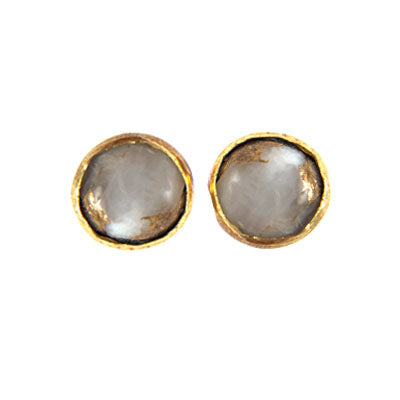 Copper Calcite Stud Earrings
