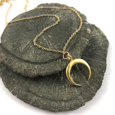 Crescent Half Moon Necklace