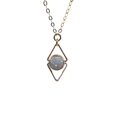 Deco Opal Necklace