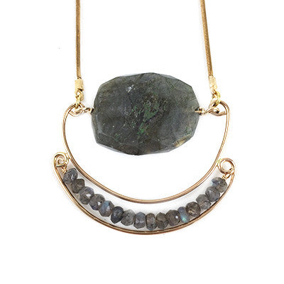 Labradorite Semi Circle Necklace