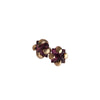 Garnet Square Claw Earrings